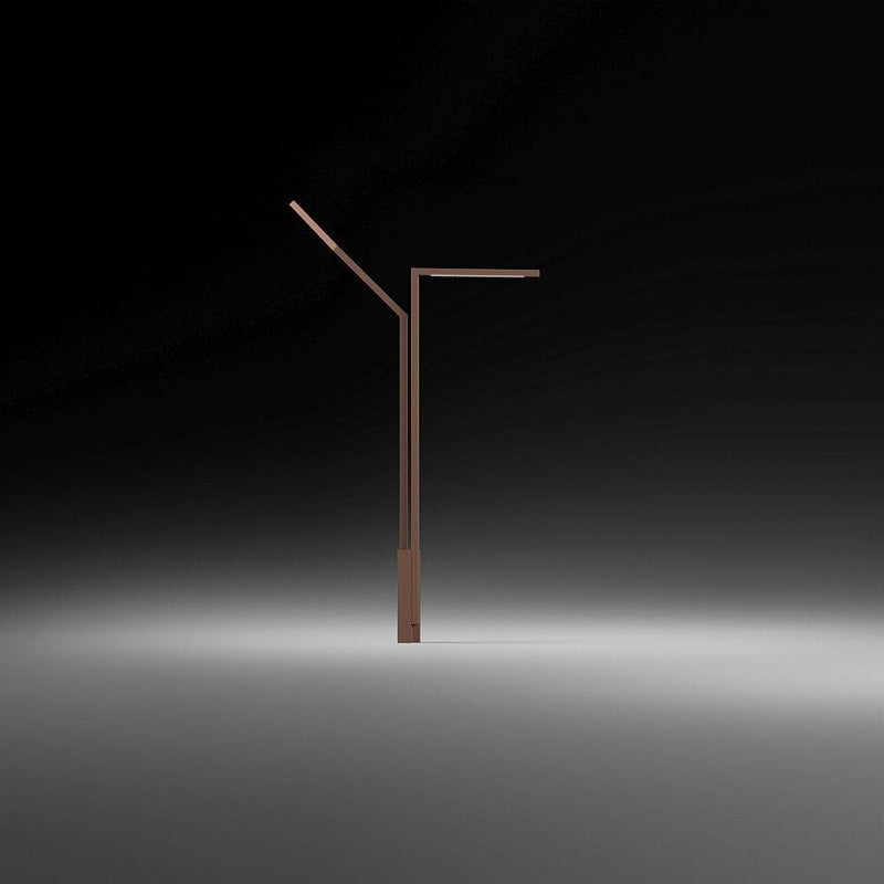 Contemporary Steel Exterior Floor Lamp | Green Outdoor LED High End Floor Lamp