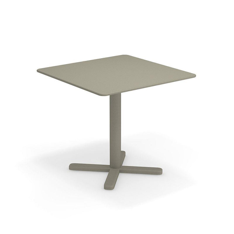 Small Square Garden Dining Table | Italian Modern Steel Mini Coffee Table