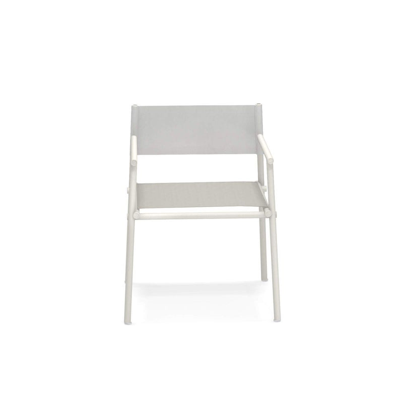 Garden Aluminium And Fabric Armchair | metal Italian design garden armchair | white black grey beige