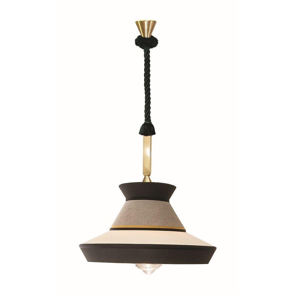 XL Decorative Outdoor Ceiling Pendant | Salt & Pepper Large High End Textured Exterior Lighting