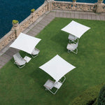 Small Minimal Garden Sunshade | high end Italian outdoor sun shade | beige white