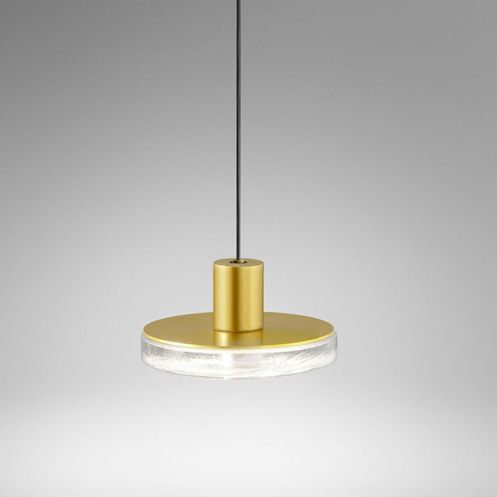 Sleek Exterior Glass And Metal Pendant