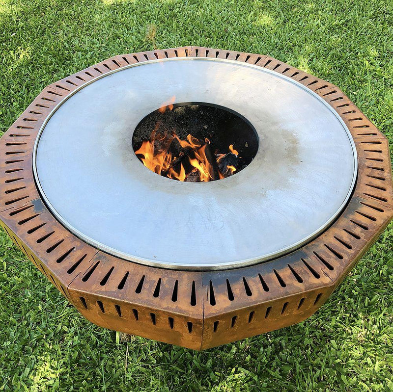 Large Corten Steel Outdoor Grill | Luxury Exterior Barbecue Grill | Made in Portugal