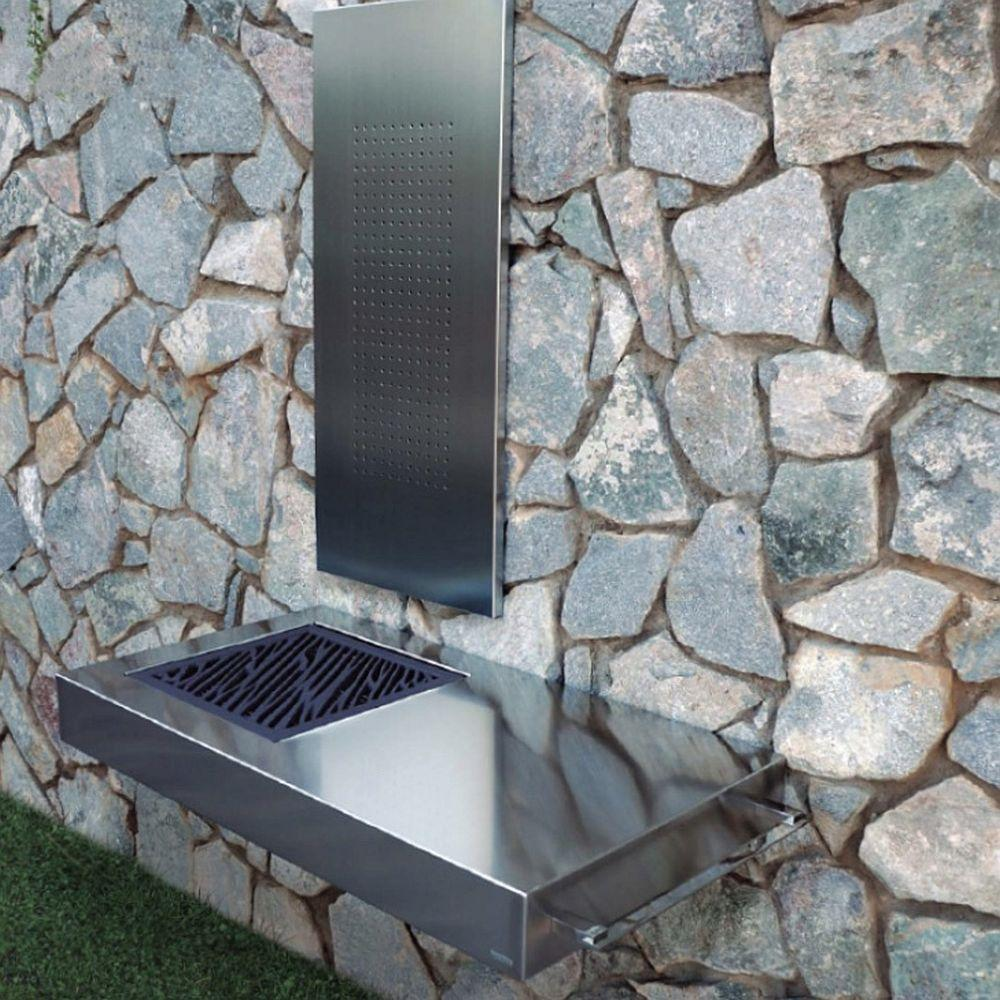 Wall Mounted Modern Coal Barbecue | Luxury Stainless Steel BBQ for Sale