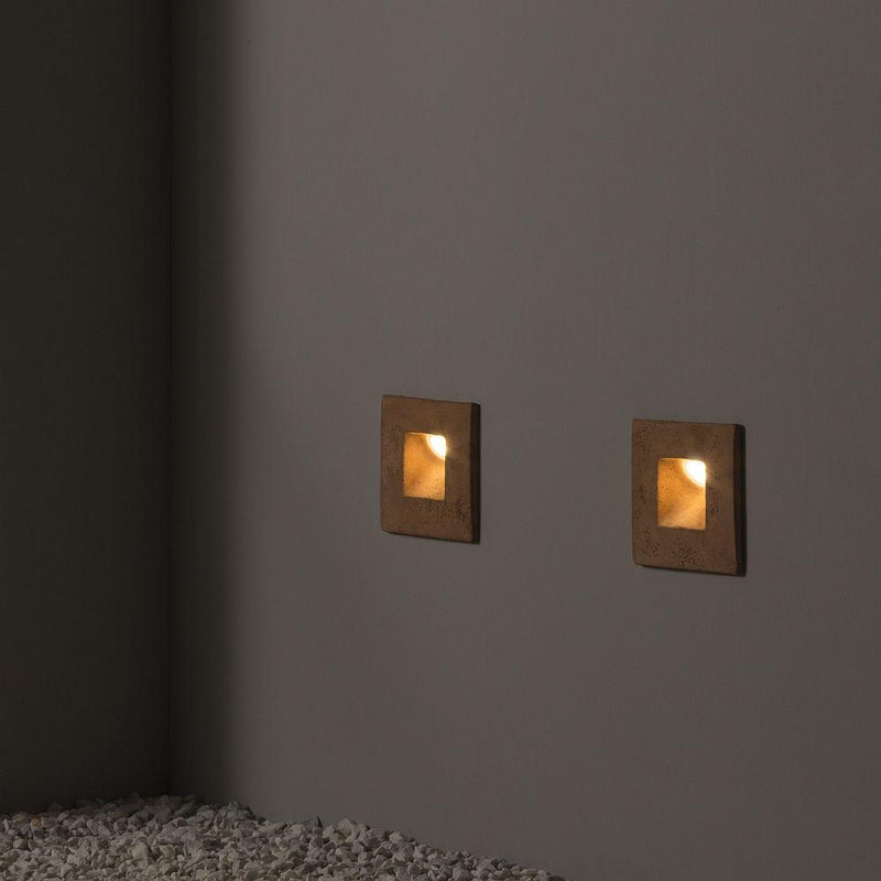 Simple Garden Recessed Square Wall Light