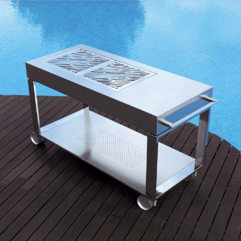Modern Stainless Steel Coal Grill | Portable Luxury BBQ | Made in Spain