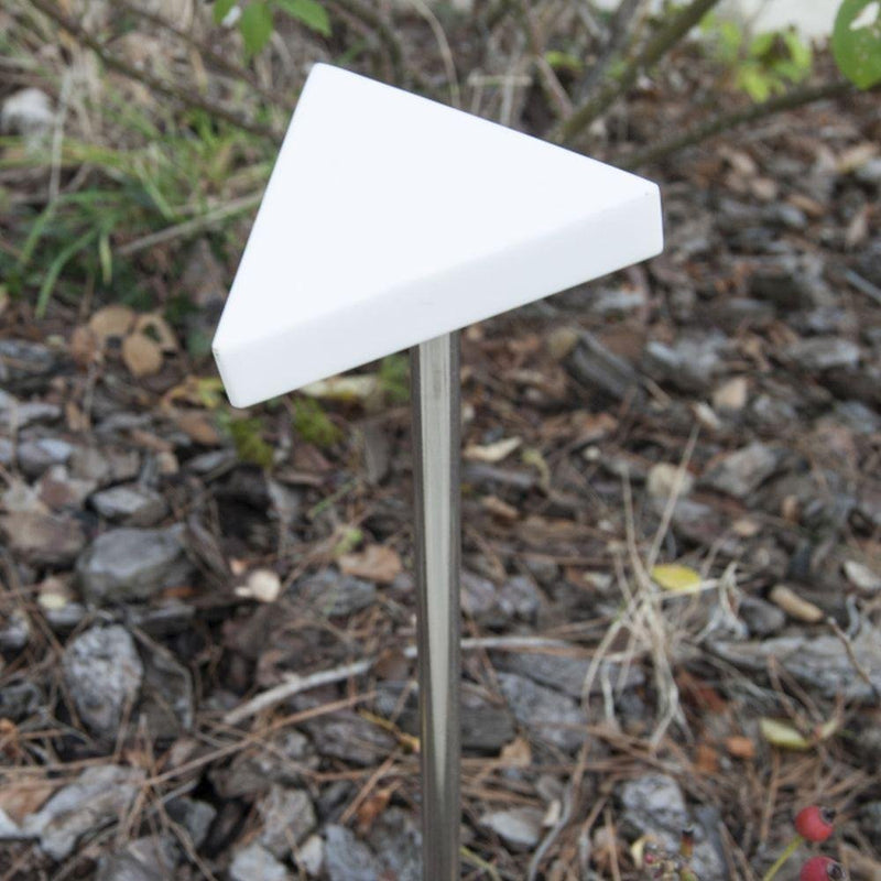 Minimal Triangle Garden Floor Light | small simple garden floor lighting | mini LED outdoor event lighting