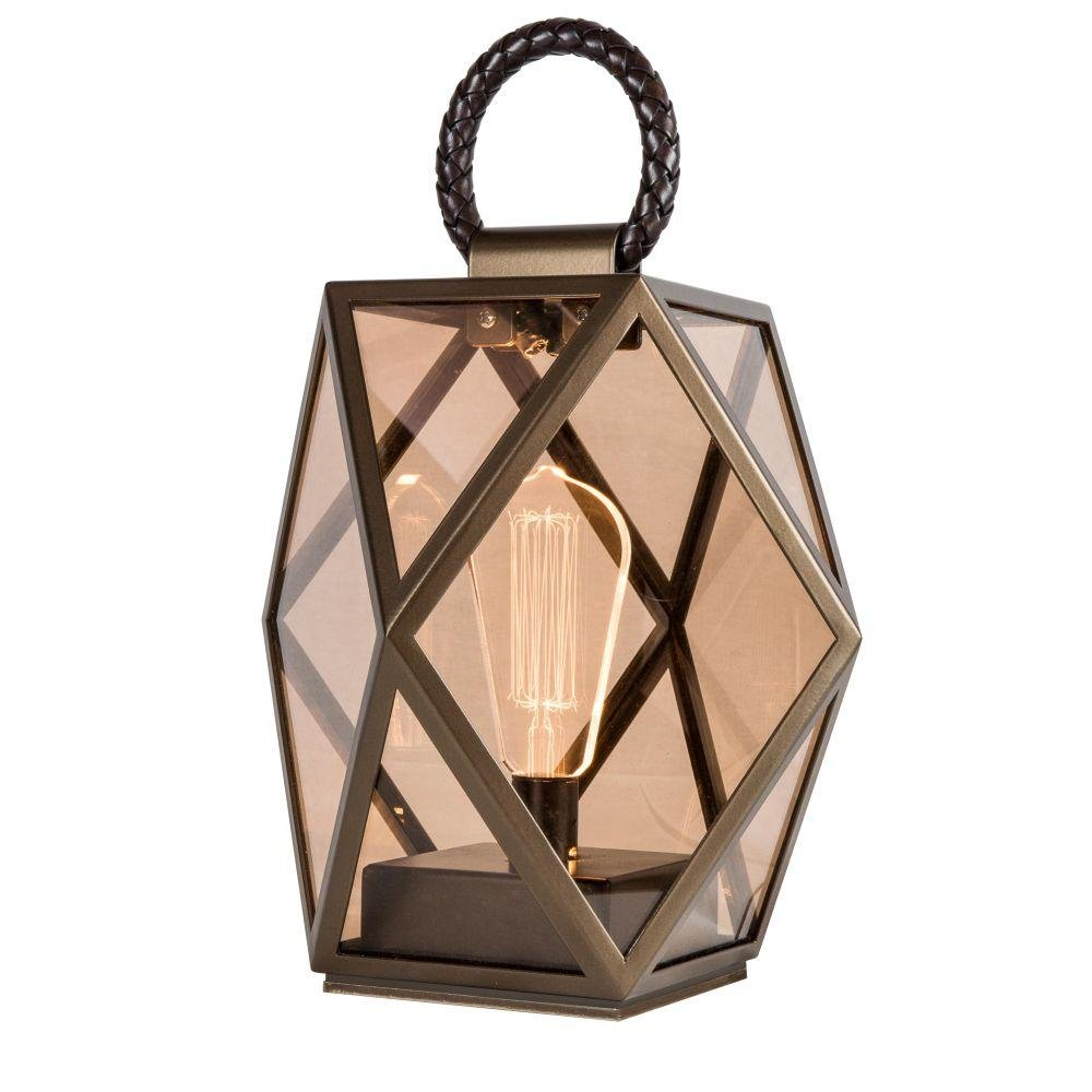 Metal Battery Powerd Bronze Lantern | small and medium bronze metal garden lighting | luxury Italian lighting UK