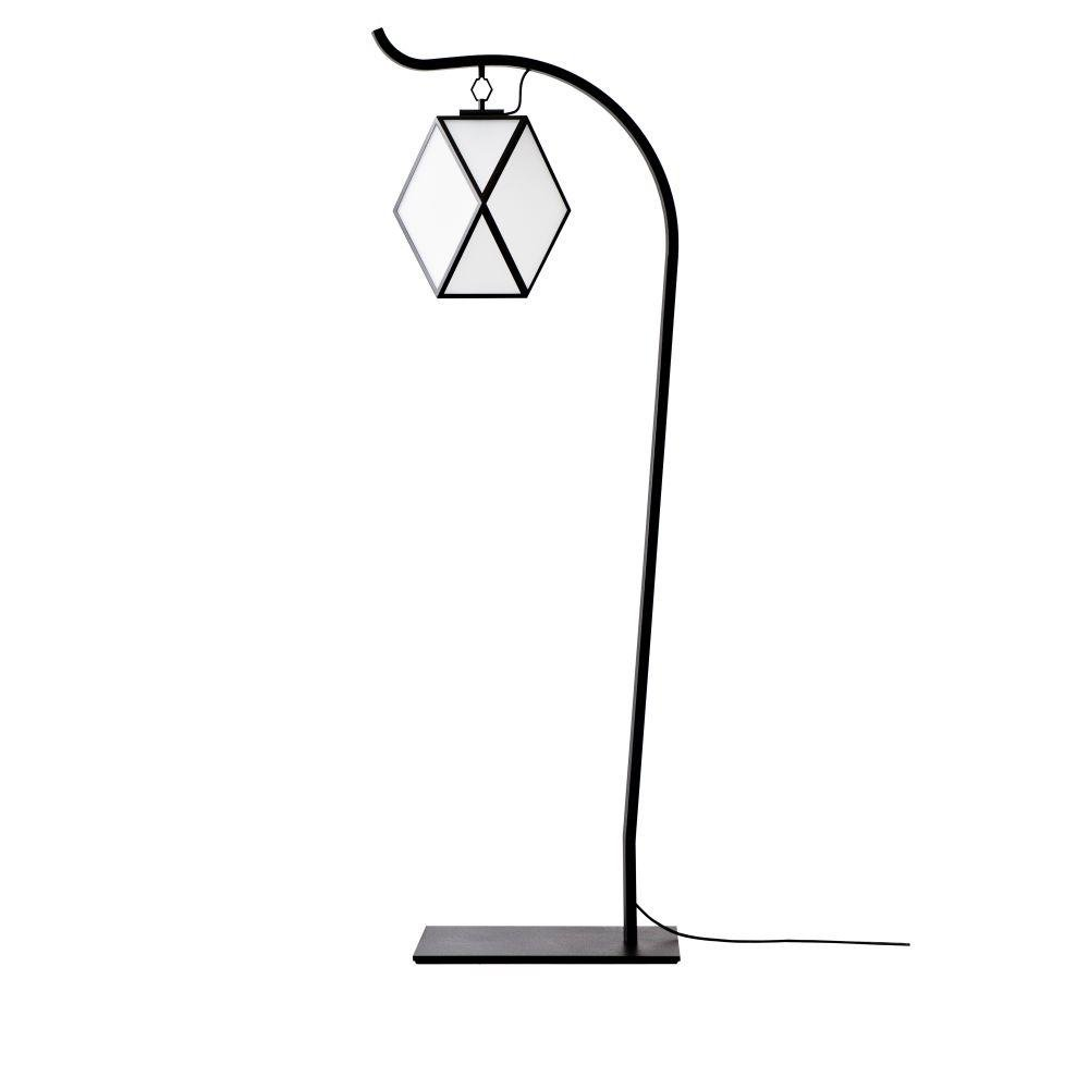 Modern Metal Garden Floor Lamp | white, black luxury Italian outdoor lighting UK