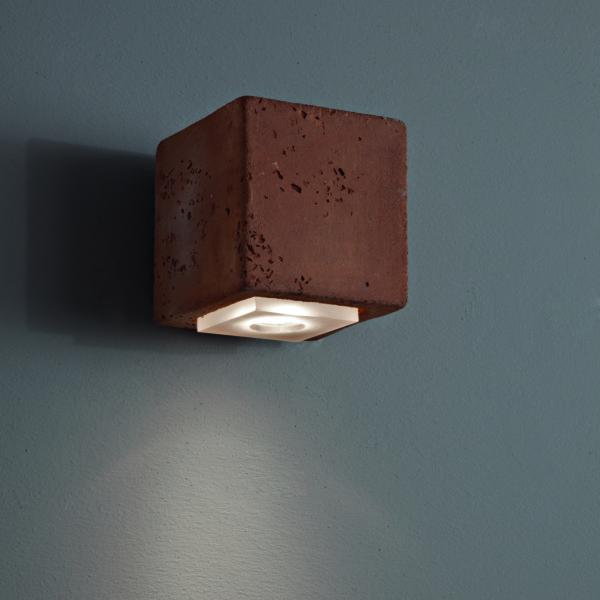 Outdoor Clay Minimal Wall Light | square outdoor clay wall light | modern Italian luxuruy terracotta wall sconce | black orange grey | small medium large
