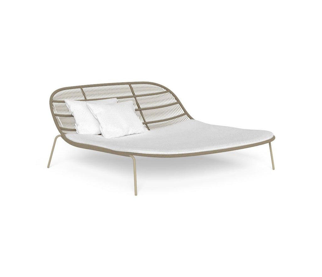 Large Relaxing Modern Outdoor Daybed | Contemporary Outdoor Colourful Furniture | Large Daybeds For Sale UK | Beige Grey Green Red Yellow