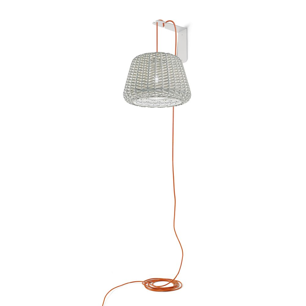 Contemporary Outdoor Rattan Suspended Light | modern exterior suspended light | e27 led | small medium large | white brown