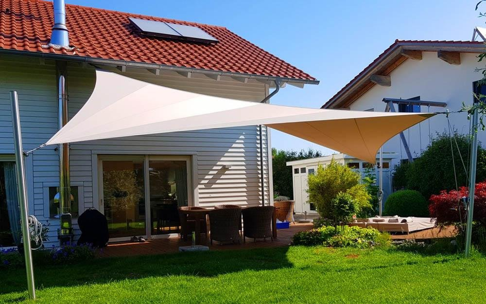 Custom Electric Motor Awning | High End Simple Patio Shade