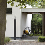 Modern Geometric Tall Outdoor Wall Light | Exterior Metal Floor Lamp Made in France | Stainless Steel