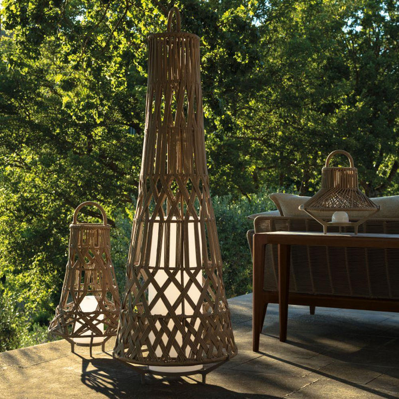 Sleek Unique Floor Lamp | Woven Frame Outdoor Floor Lamp | Luxury Standard Floor Lamp | High End Lamp | Tribal Style Floor Lamp | Luxury Quality
