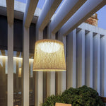 Contemporary Textured Garden Ceiling Pendant | Exterior High End Fibreglass Pendant Made in Spain | European Outdoor Lighting