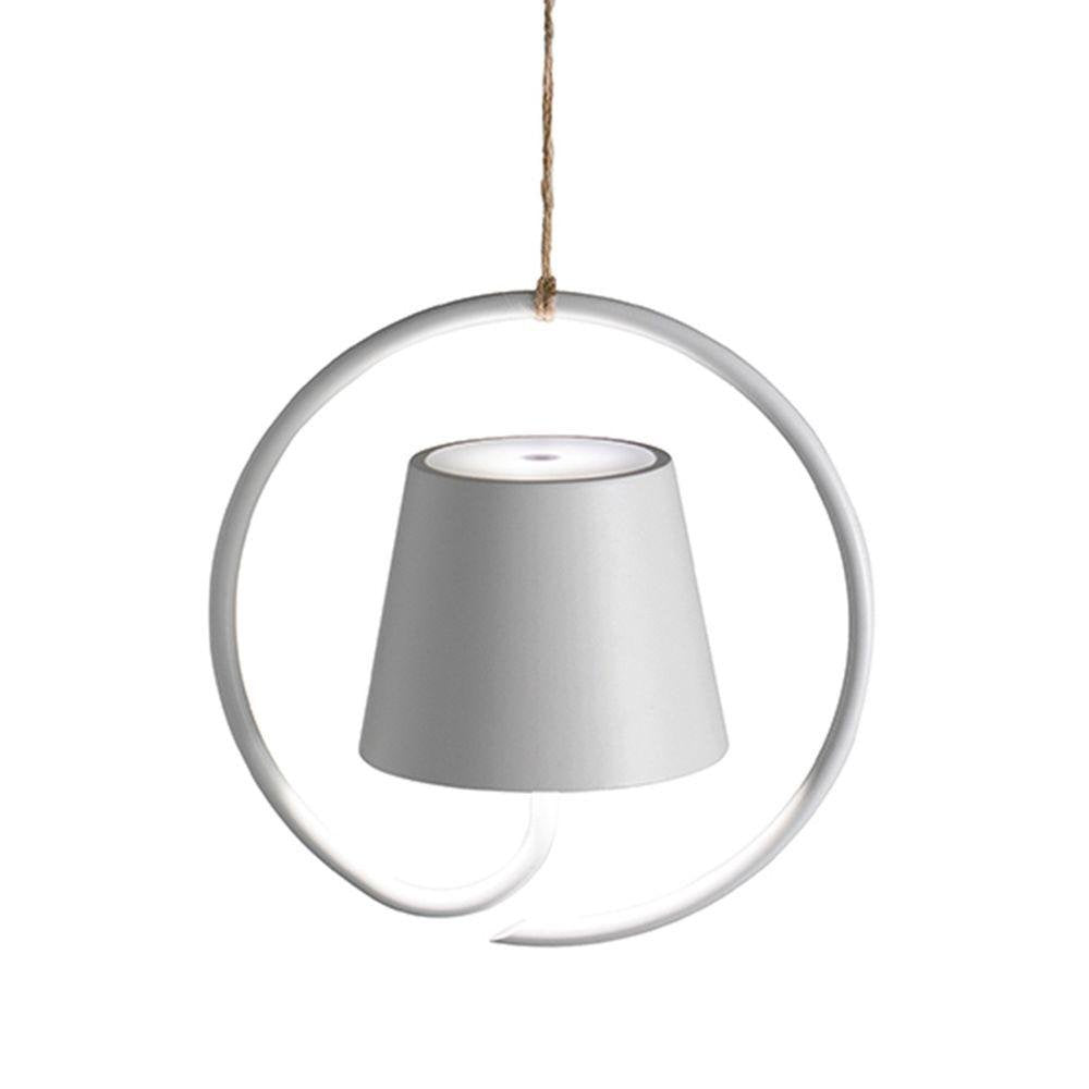 Rechargeable Modern Garden Pendant Light | high end battery operated wireless ceiling pendant | black white brown