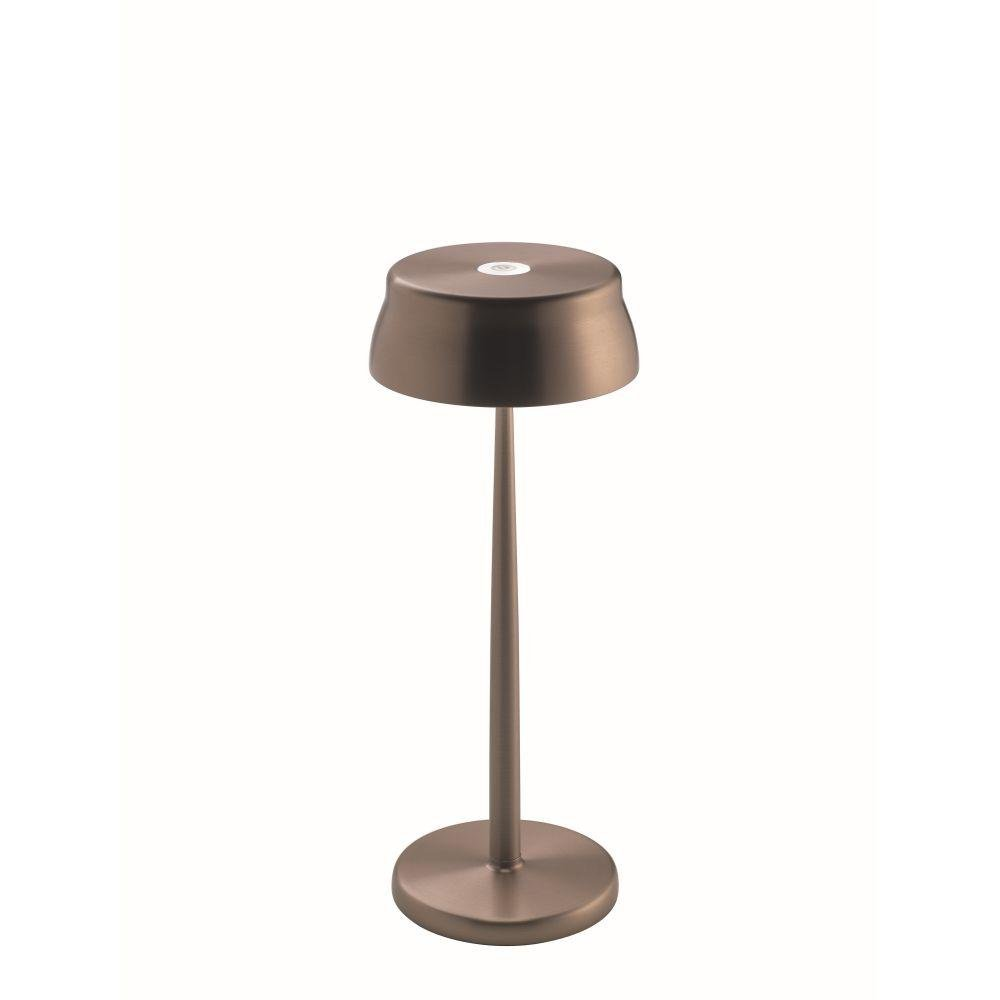 Wireless Metal Modern Table Lamp | luxury exterior cordless battery operated table light | gold copper aluminium blue green