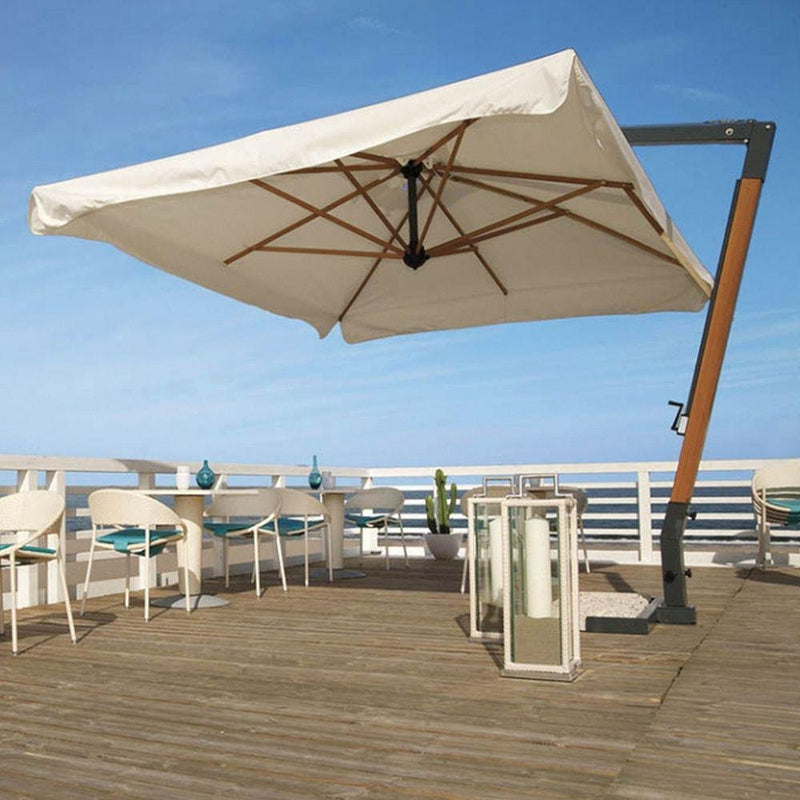 Large Square Luxury Parasol | Modern Luxury Parasol | Parasol For Commercial Use | Luxury Quality