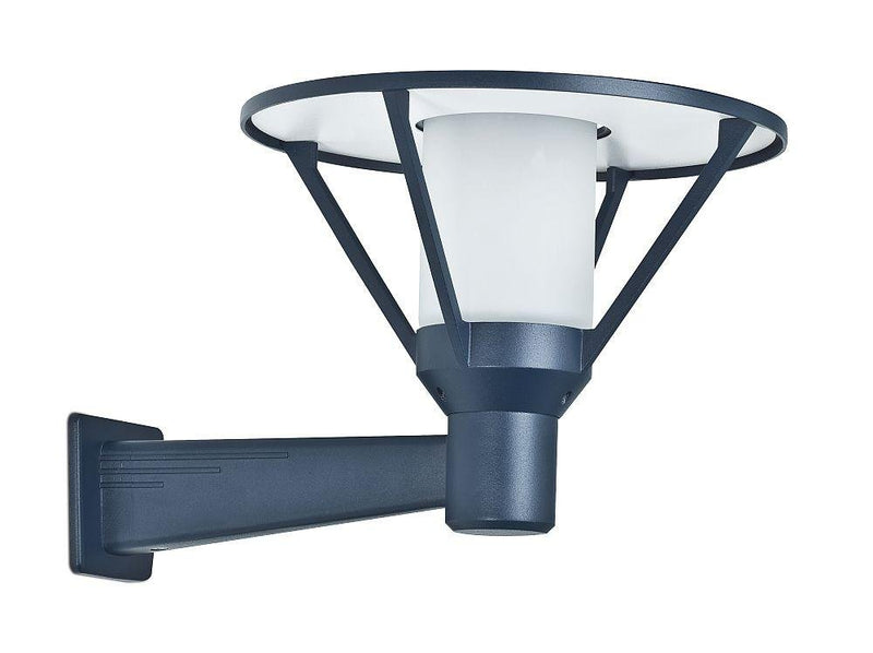 Modern Garden Wall Light with Frosted Diffuser | Outdoor Dark Blue Wall Sconce Made in France 30cm