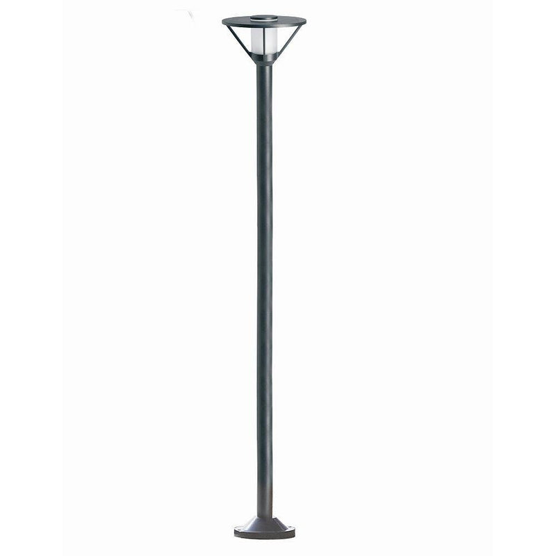 Modern Garden Bollard with Frosted Glass Diffuser | Luxury Tall Exterior Floor Lamp Made in France | 230cm