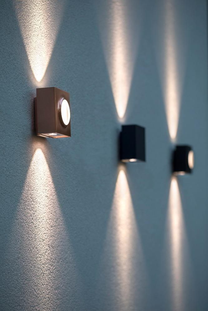 Simple Square Outdoor Wall Light | French Luxury Exterior Lighting Red Yellow Black Blue Green White 12.5cm