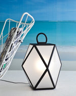 Modern Metal Floor Lamp | Medium and Large, Black and White | High end exterior table or floor lights | luxury outdoor lighting