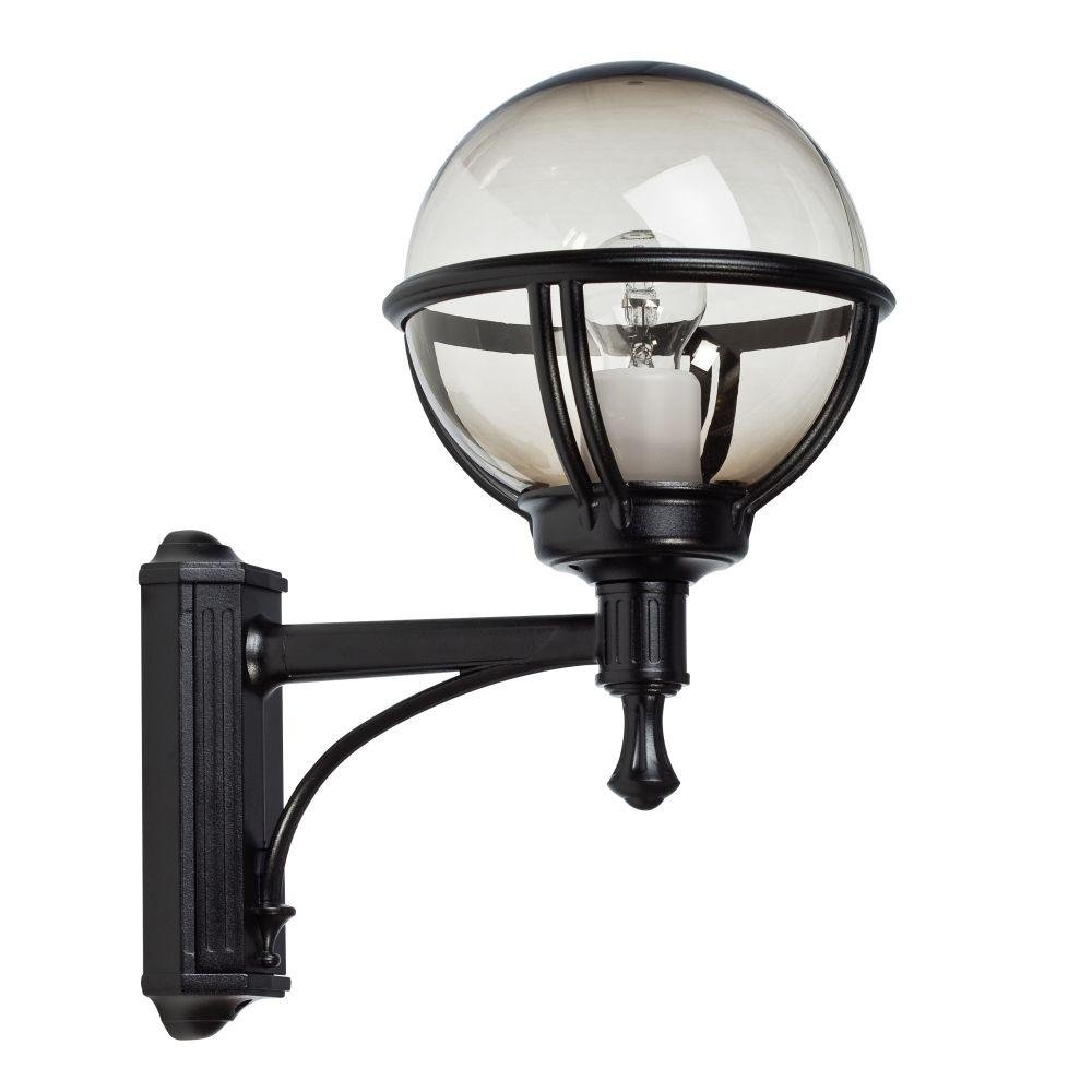 Simple Outdoor Metal Globe Wall Light | modern acrylic and metal wall sconce | E27 | black white red