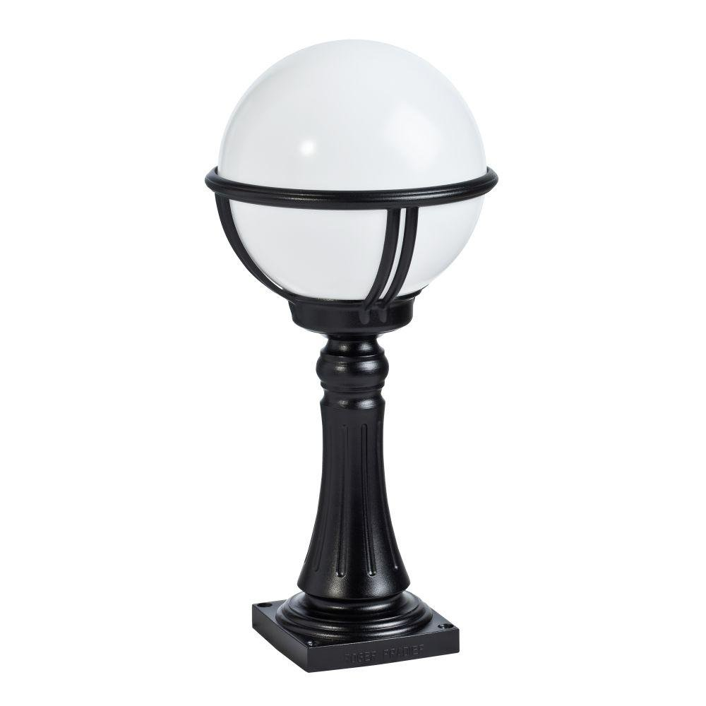 Simple Exterior Metal Globe Floor Light | luxury French exterior bollard | E27 | black white red green