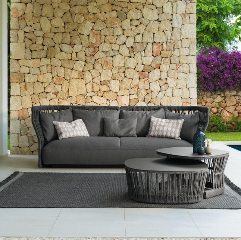 Dark Grey Outdoor Sofa | Luxury Outdoor Sofa | High End Dark Grey Sofa | Luxury Quality | Luxury Seating