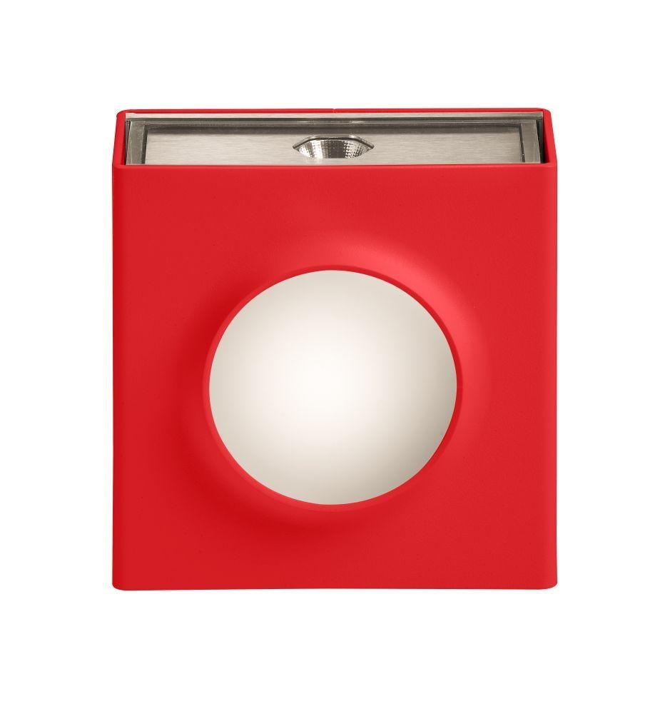 Simple Square Outdoor Wall Light | French Luxury Exterior Lighting Red  12.5cm