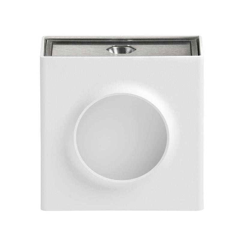 Simple Square Outdoor Wall Light | French Luxury Exterior Lighting White 12.5cm