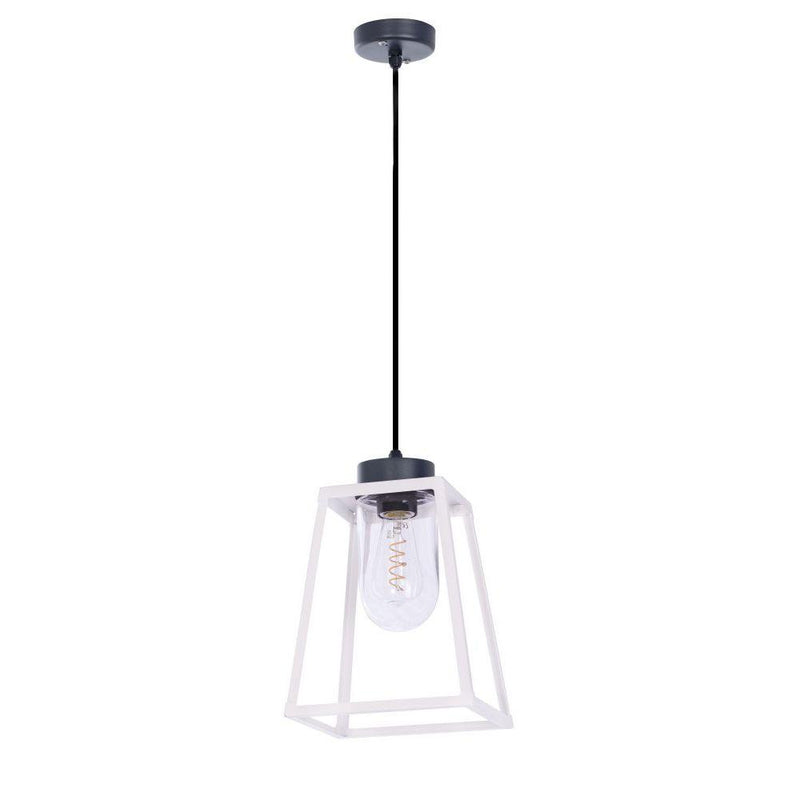 Abstract Exterior Lantern Long Pendant | High End Garden Ceiling Pendant Made in France 130cm