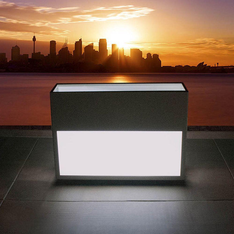 Stylish LED Light Up Outdoor Planter | large light up planters | lighted garden pots | steel corton