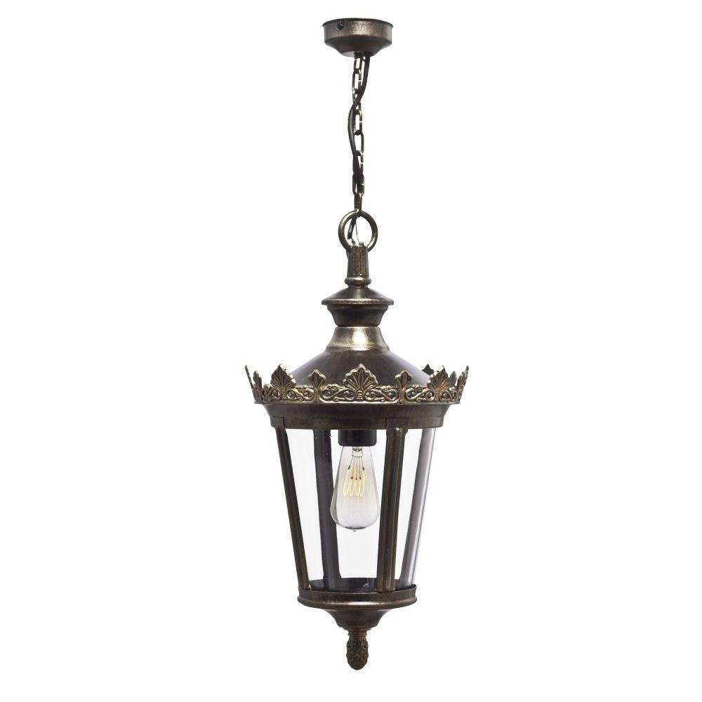 Victorian Style Metal Garden Pendant | luxury French metal suspended light | aluminium brass | E27 LED | black green gold