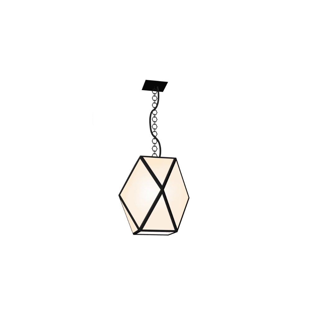 Modern Metal Garden Pendant | white, black large/ medium outdoors garden pendant