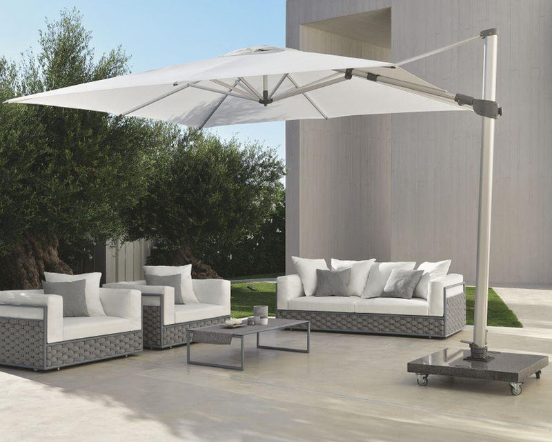 Simple Side Arm Modern Parasol | Simple Large Parasol | Luxury Garden Parasol | Luxury Quality | Metal Frame