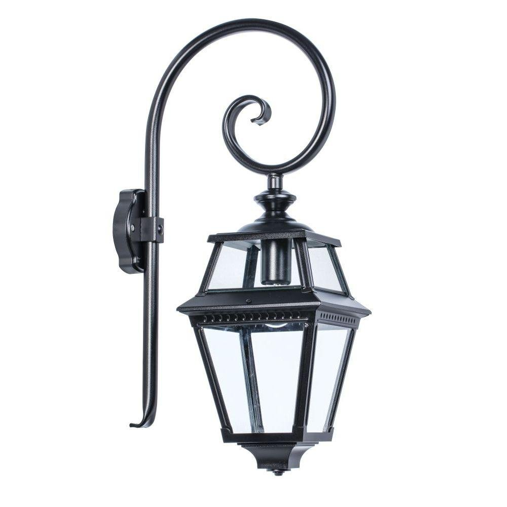 Traditional Exterior Lantern Wall Lamp | French classic style garden wall mounted lamp | gold green white brown black