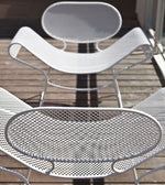 Simplistic Outdoor Metalic Armchair | Outdoor Metal Armchair | High End Metal Armchair | Luxury Seating | Luxury Furniture