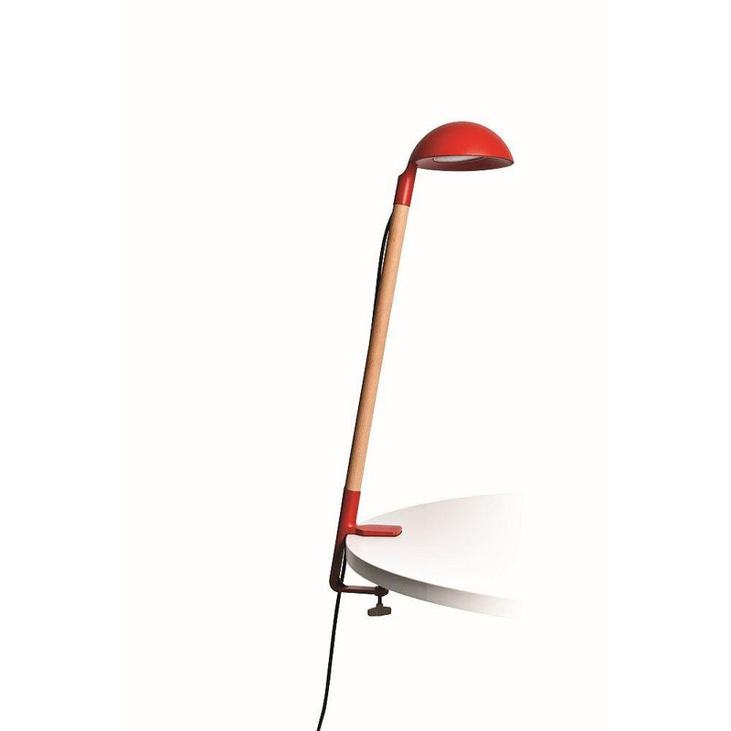 Contemporary Hemisphere Outdoor Table Light | Exterior Luxury Desk Lamp Made in France | Red Green White Black