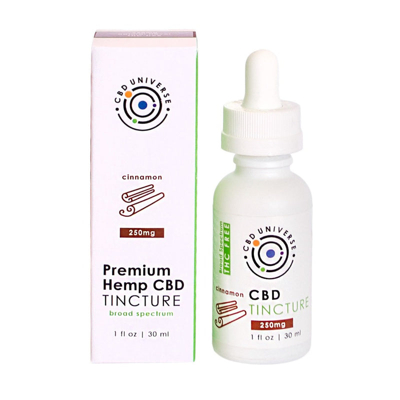 250mg broad spectrum tincture with real natural Cinnamon Leaf Oil flavor and a hint of vanilla. No sweeteners, just the benefits of CBD, CBC, CBN and CBG in Coconut MCT Oil. Looking to expand your business and sell CBD oils and tincctures? CBD Universe has earned the trust of the top US CBD brands. We are ready to private label and white label oils for your company!
