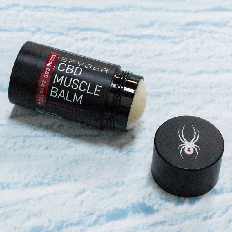 Spyder cooling muscle balm is naturally made with premium hemp CBD oil, menthol, and camphor for exceptional relief that you can't find anywhere else. If your muscles ache, you need to try Spyder CBD muscle salve. Five start reviews confirm that Spyder CBD Muscle Balm with 800mg CBD is effective and works quickly.