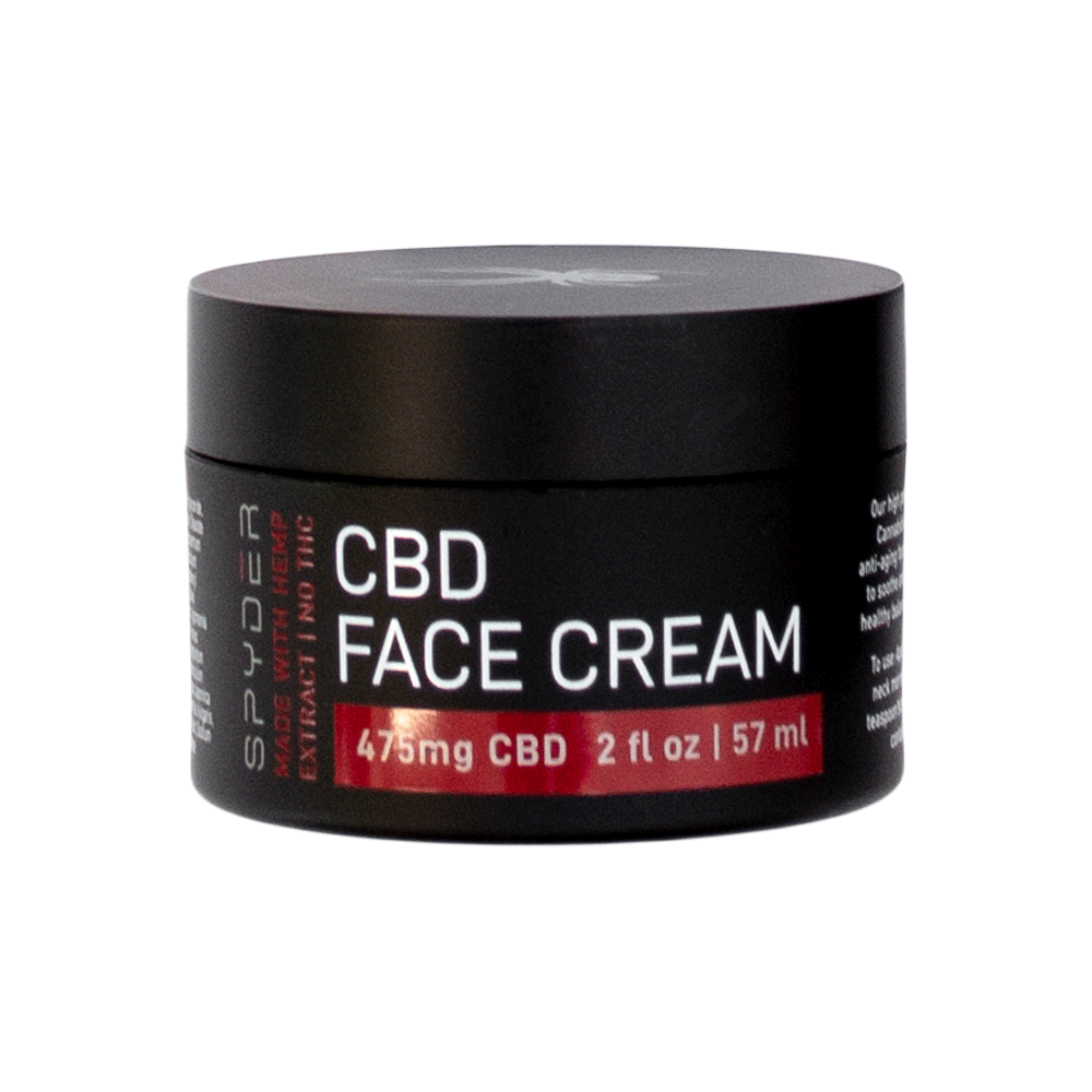 Spyder hemp infused face cream may reduce skin inflammation.