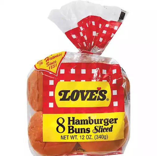 Love's Hamburger Buns (12 Count)