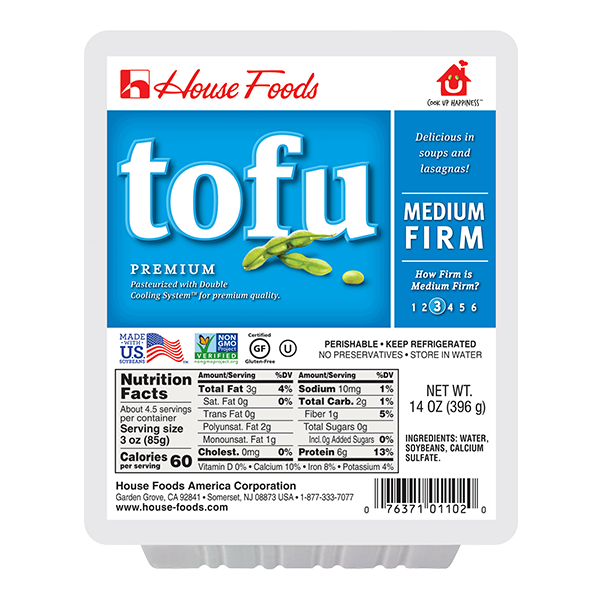 Tofu - Medium Firm - 14oz