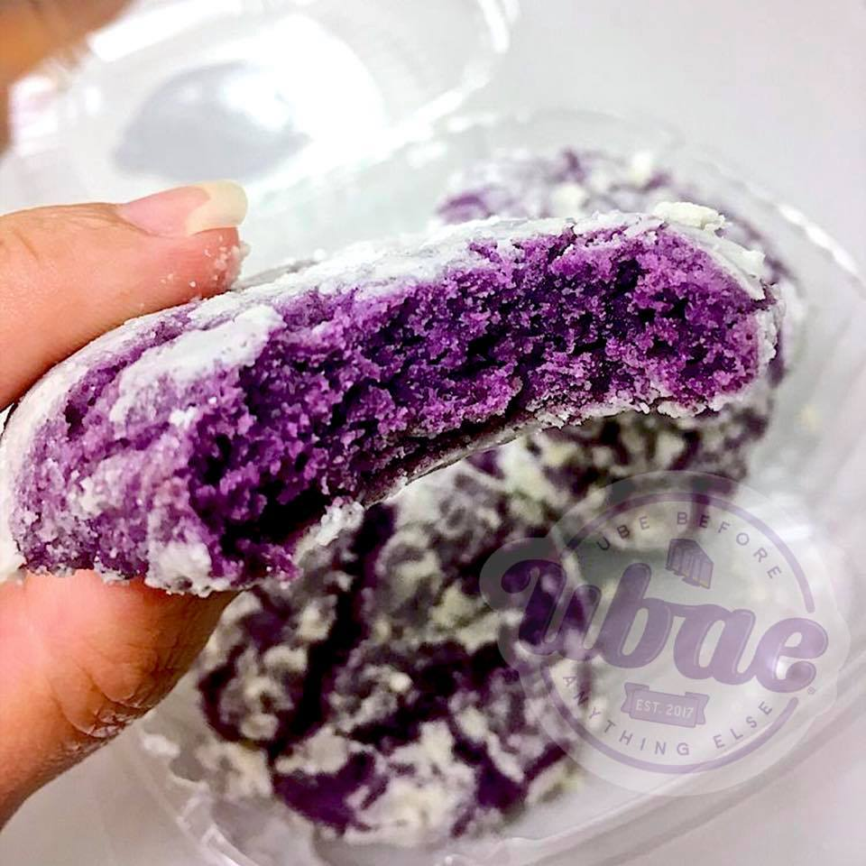 Ube Crinkle Cookies by UBAE