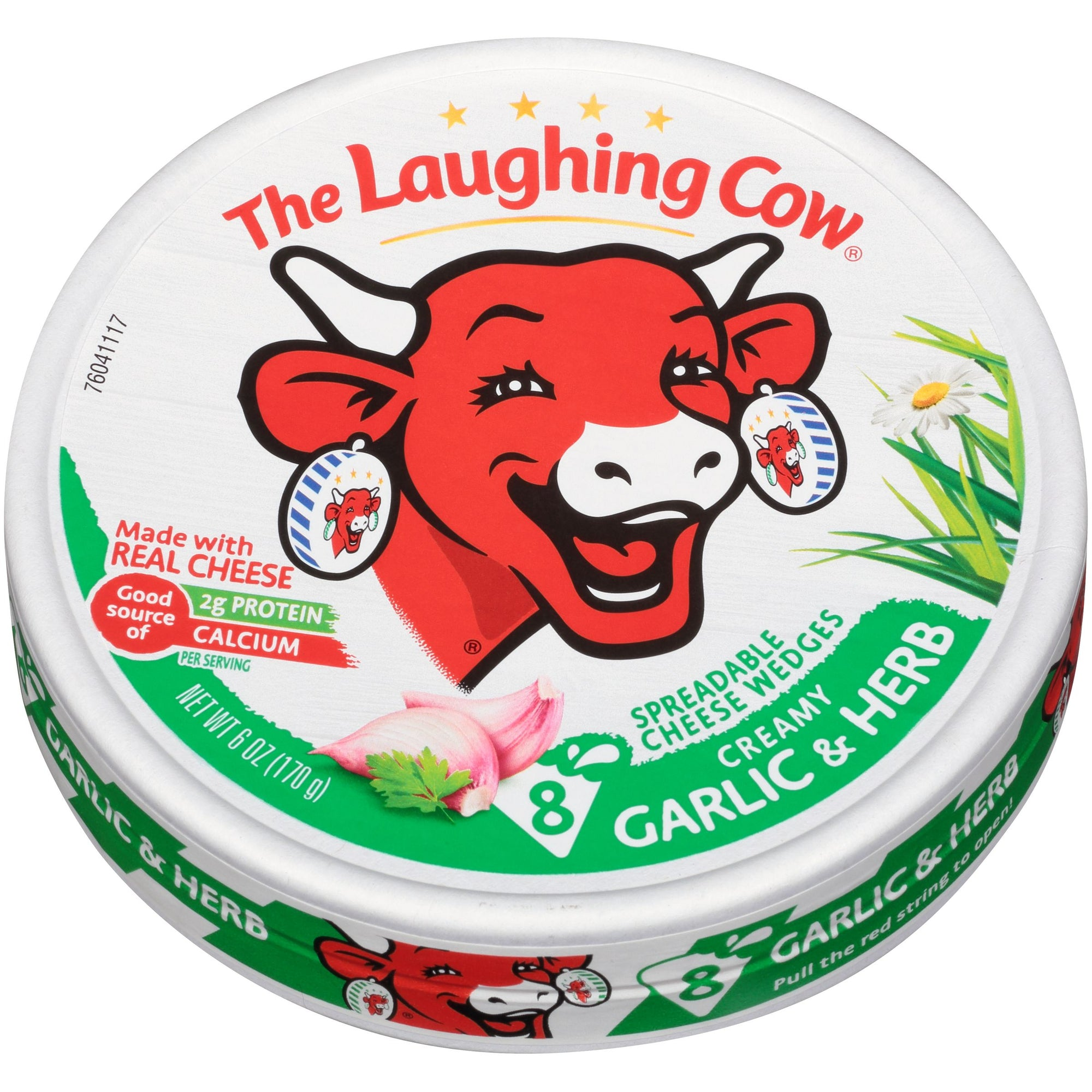 The Laughing Cow Creamy Garlic & Herb Swiss Cheese Spread - 6 Oz.