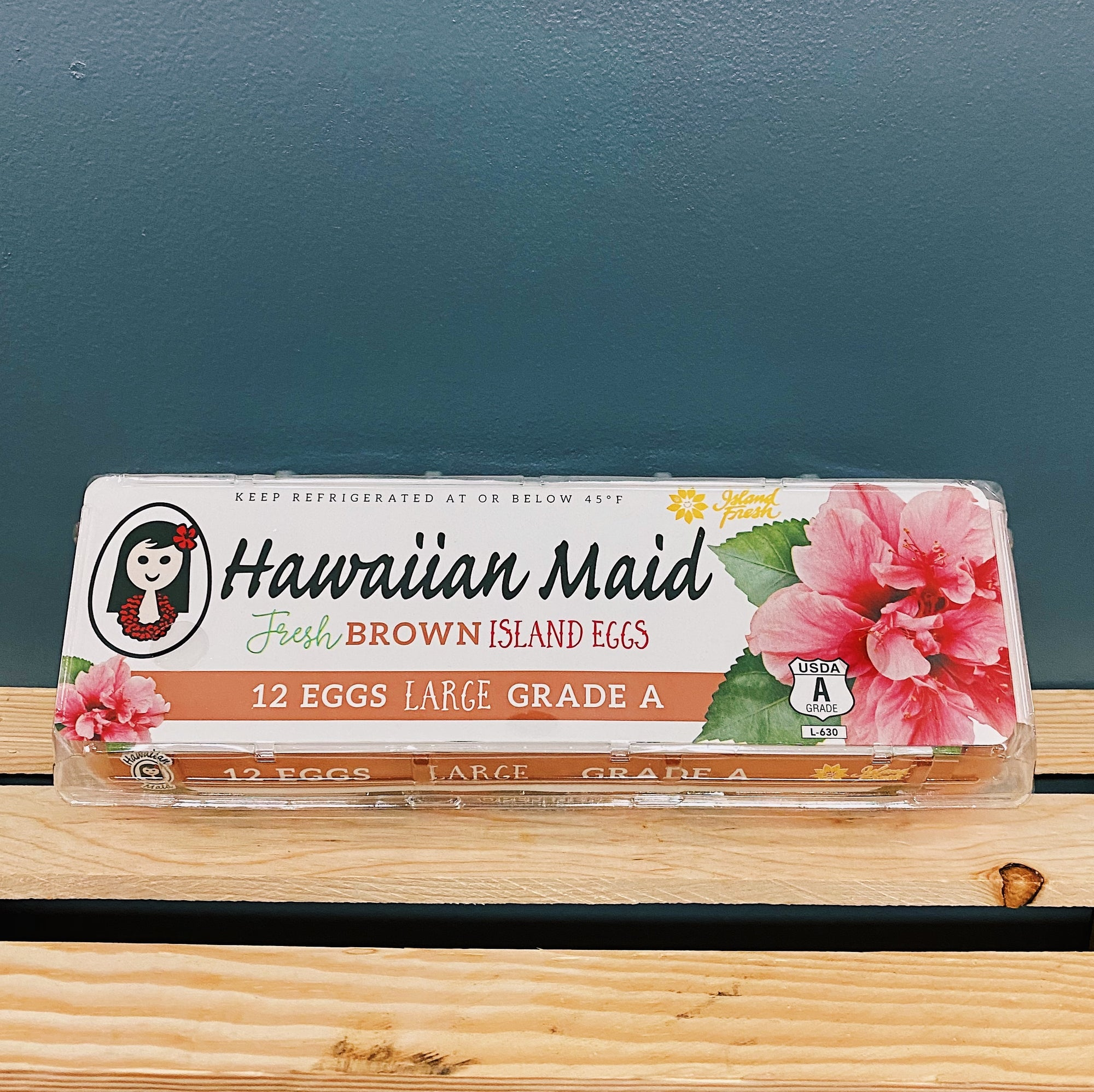 Eggs - Hawaiian Maid Large Fresh Brown Island Eggs (12)