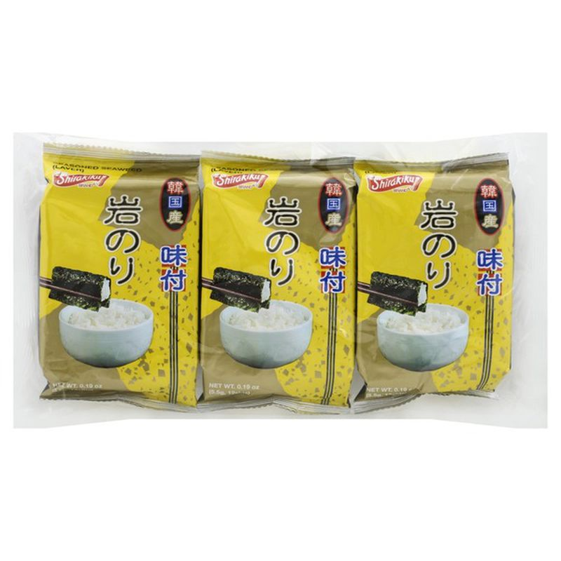 Shirakiku Seasoned Seaweed - 3 pack