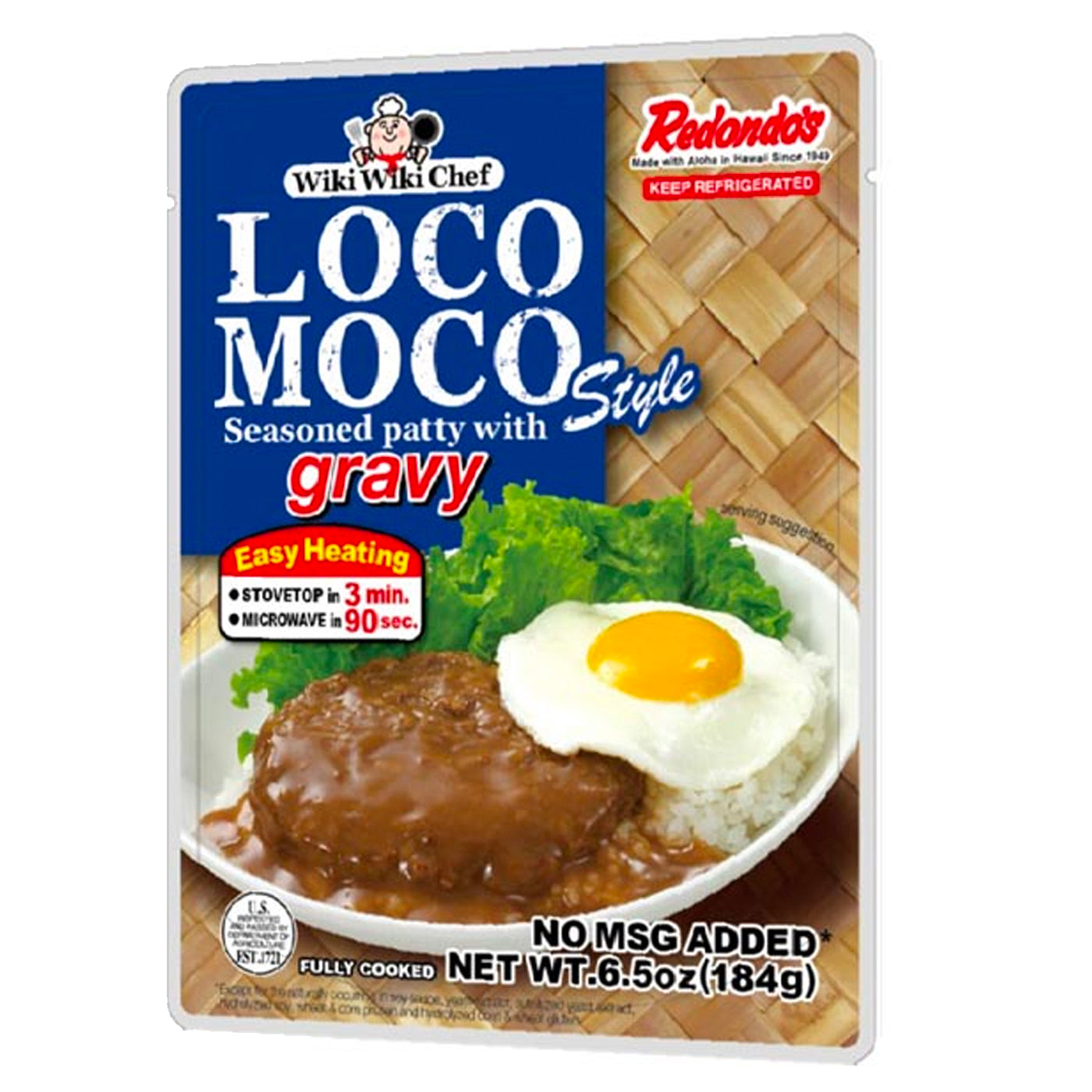 Redondo's Loco Moco Seasoned Patty with GRAVY (Hawaii's Favorite)